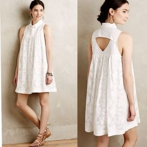 Antrho HD in Paris White Lace Poplin Swing Dress